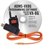 ADMS-VX8G Programming Software and USB-82 cable for the Yaesu VX-8G