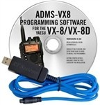 ADMS-VX8 Programming Software and USB-59 cable for the Yaesu VX-8 and VX-8D