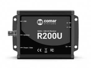 COMAR R200U DUAL CHANNEL AIS RECEIVER WITH NMEA AND USB OUT