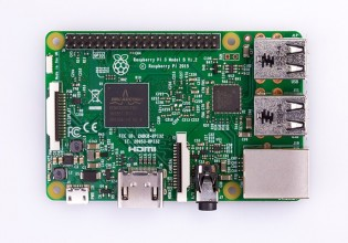 Raspberry Pi 3 top down