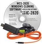 WCS-2820 Programming Software and USB-RTS05 data cable for the Icom IC-2820