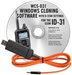 WCS-D31 Programming Software and USB-RTS05 data cable for the Icom ID-31