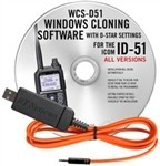 WCS-D51 Programming Software and USB-RTS05 data cable for the Icom ID-51